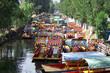 Leinwanddruck Bild - boats of xochimilco