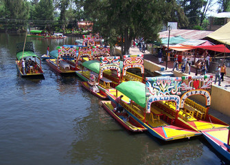 boats of xochimilco.