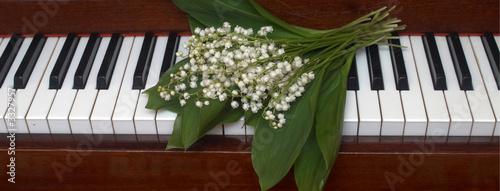 Leinwanddruck Bild piano v