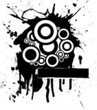 ink splat circle poster