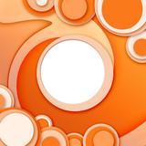 cornice/sfondo circolare astratta arancione poster