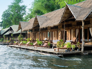 huts on the river