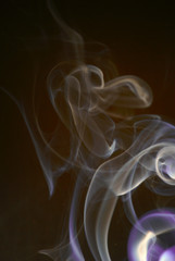 two colored smoke