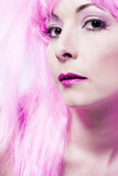 curious pink wig poster