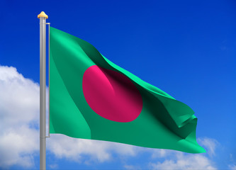 bangladesh flag (include clipping path)