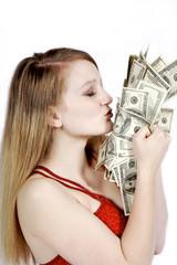 kissing the cash