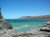 côte californienne et eau turquoise poster