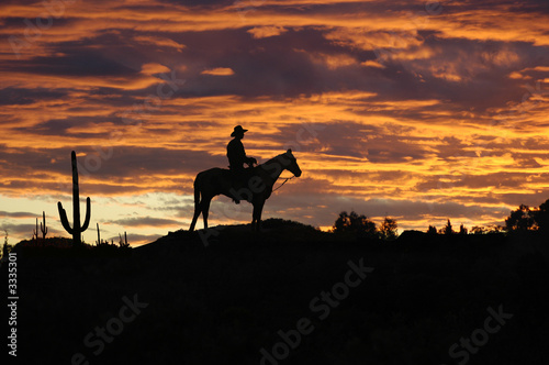 Leinwanddruck Bild cowboy