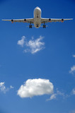 airliner and cloud poster