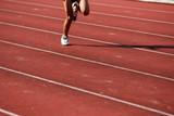 runner running on the track poster