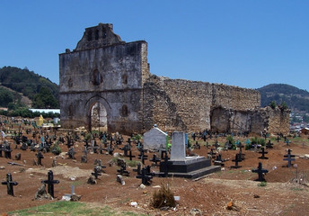 ruined church and cemetery