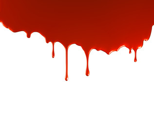 red paint pouring