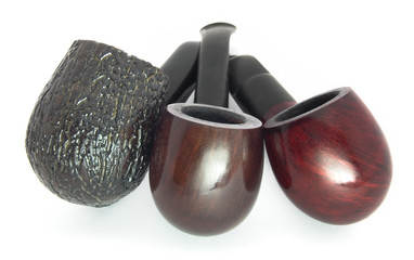 three tobacco-pipes