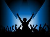 audience in spotlight poster