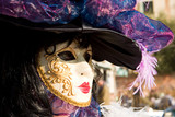 a woman in costume at the venice carnival (7) poster