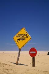 beware of crocodile