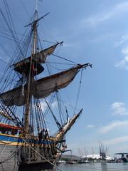 Tallship docked near Millenium Dome in London