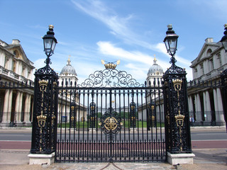 gates of old naval college in greenwich