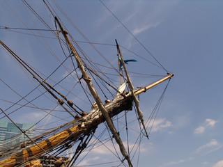 rigging on sailing ship