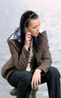 business woman talking to mobile phone