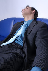 Sleeping Business Man