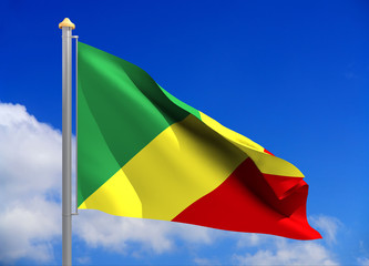 congo flag (include clipping path)
