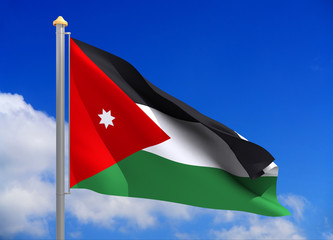 Jordan flag (include clipping path)