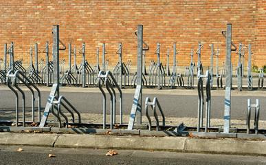 bicycle rack.