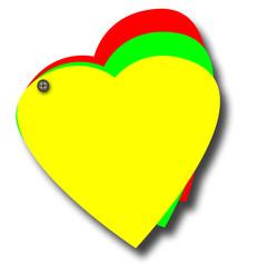 post-it coeur jaune