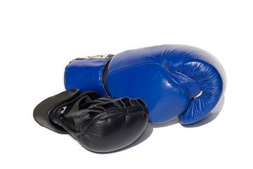 mma and boxing gloves