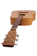 acoustic guitar on white