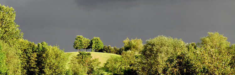 paysage orageux