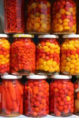 jars of brazilian peppers