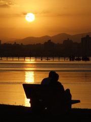 sunset in florianopolis