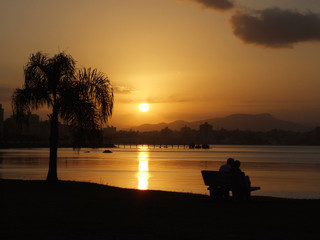 sunset in santa catarina