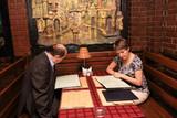 couple in restaurant poster