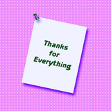 note of thanks poster