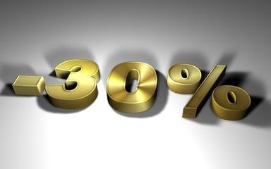 percentuale in oro -30