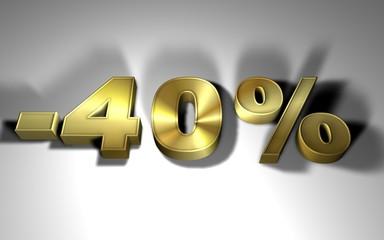 percentuale in oro -40