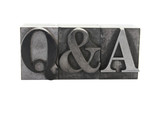 'q&a' in old letterpress metal type