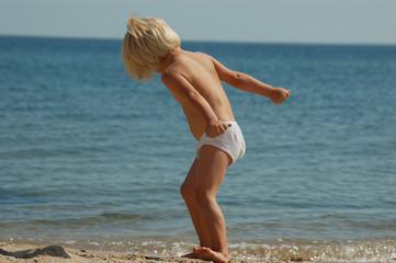 girl on beache