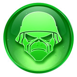 army button. (with clipping path) poster