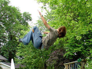 boy doing overturn jump