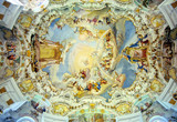 bavarian church ceiling-1b poster