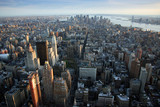 aerial view over lower manhattan, new york - 3372560