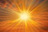 soleil dans ciel rouge