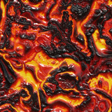 rendering of molten lava poster
