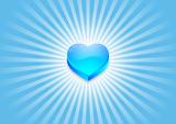coeur flash bleu poster