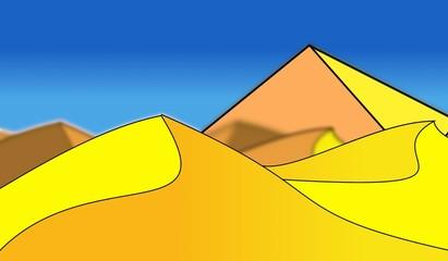 pyramide dans les dunes