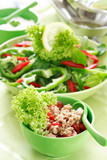 healthy food, salad with tunny poster